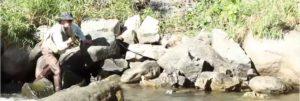 Andorra; pescando en el río Valira
