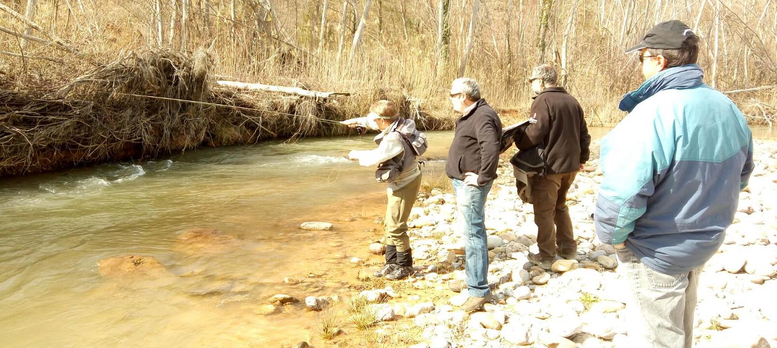 Curso pesca al hilo en Tremp