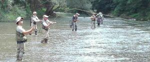 Curso técnicas de lanzado pesca a mosca en Berga (Pedret) 17 de Septiembre de 2017
