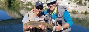 Curso personalizado de mejora para la pesca al hilo para Xavier y Josep